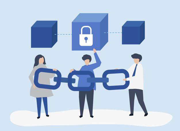 Vereinfachte Darstellung der Blockchaintechnologie