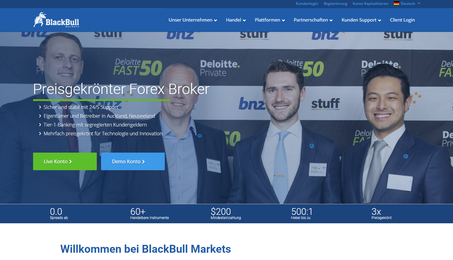 Blackbull Markets Homepage