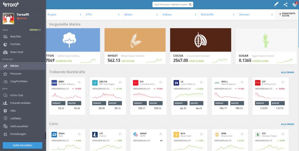 Aktien Plattform