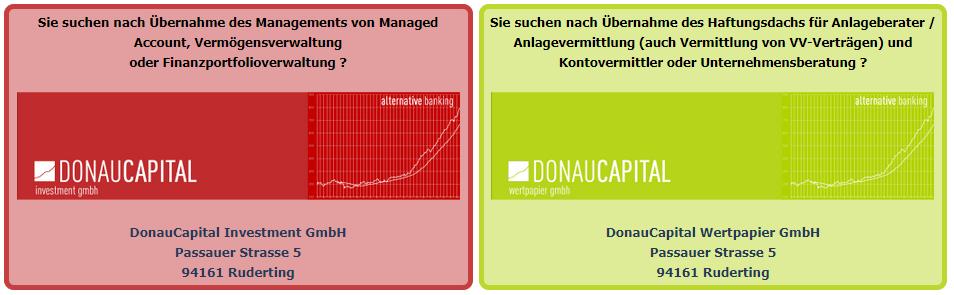 Support der DonauCapital Wertpapier GmbH