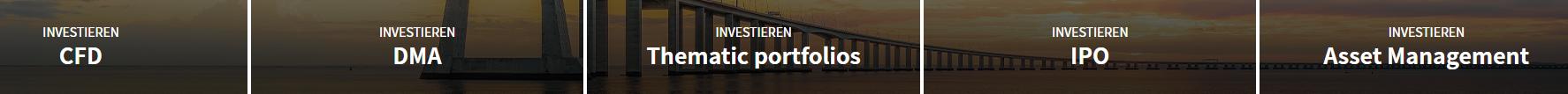 Trade.com Investmentkategorien