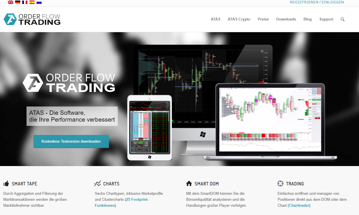 ATAS Order Flow Trading Software