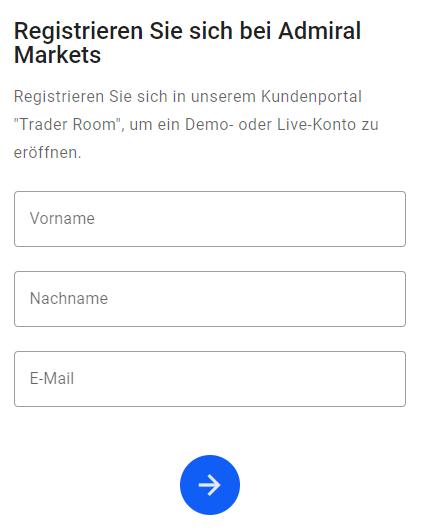 Admiral Markets Kontoeröffnung