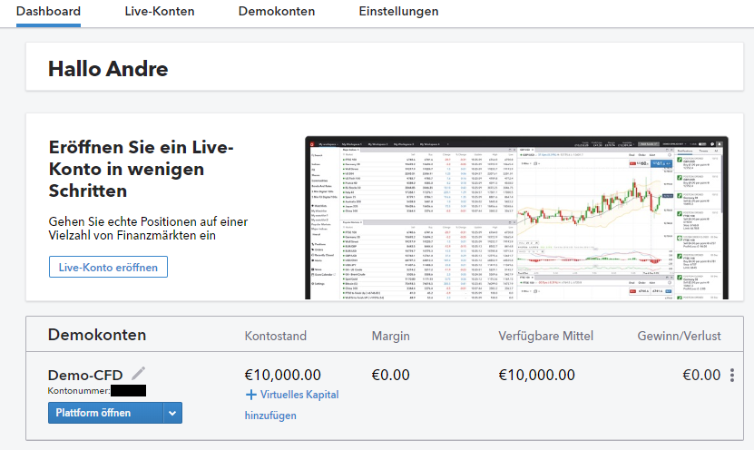 Demokonto bei IG Markets