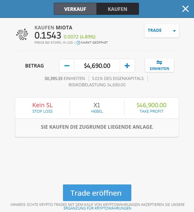 Direktes Kaufen von Kryptowährungen