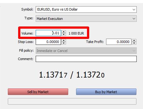 ECN Forex Trading Positionsgröße
