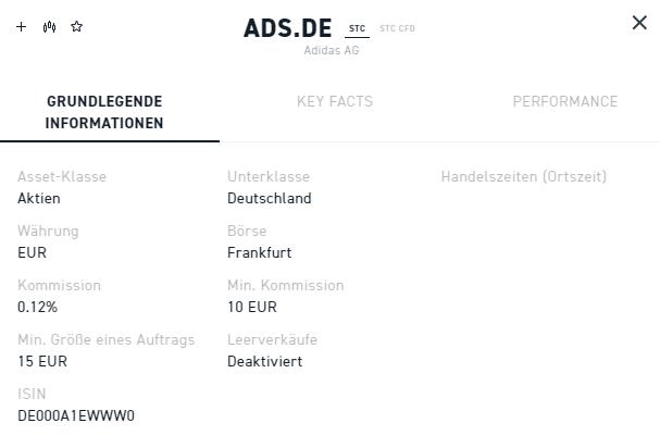 Eigenschaften der Aktie Adidas 2