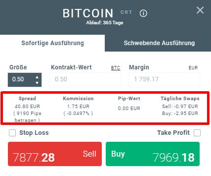 negoziazione bitcoin vs scorte