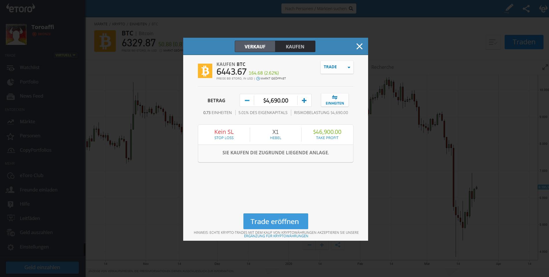 Kryptowährungen Trading Plattform