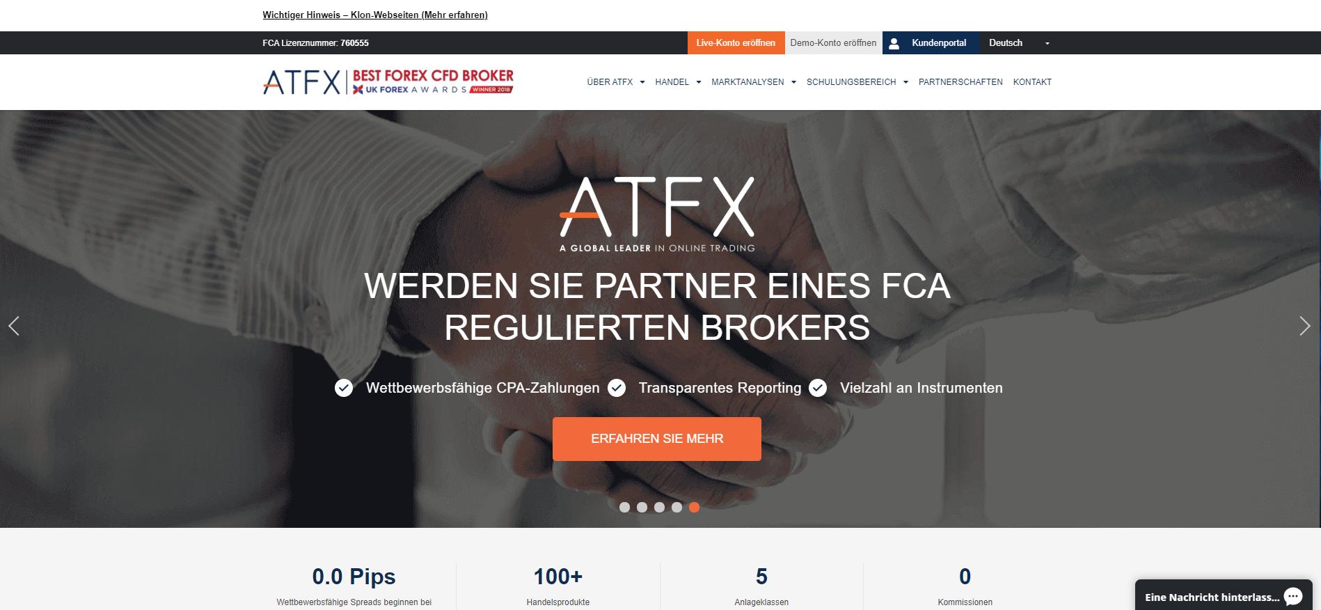Offizielle Webseite von ATFX