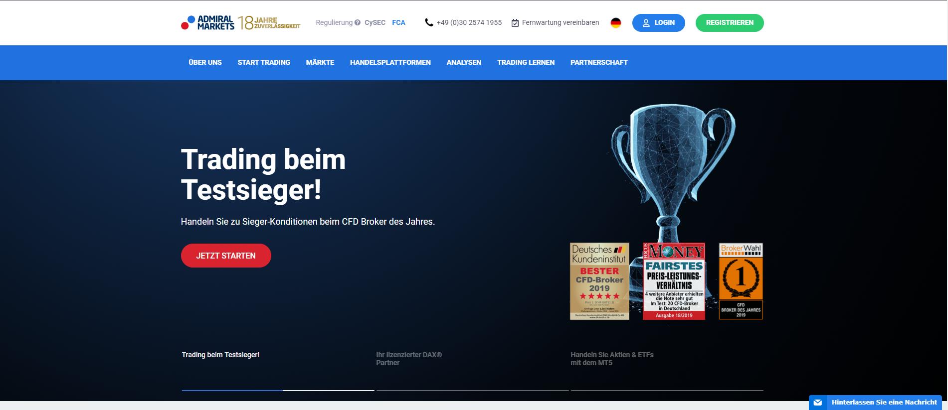 Offizielle Webseite von Admiral Markets