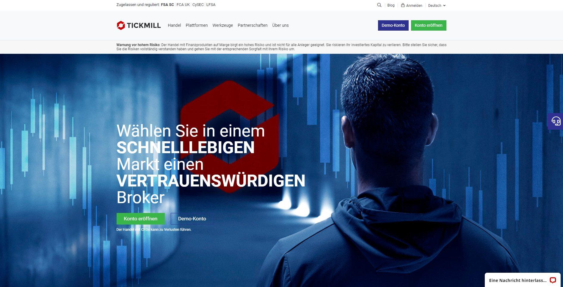 Tickmill Webseite