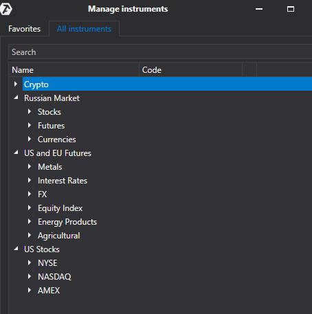 Märkte und Börsen in der Software ATAS