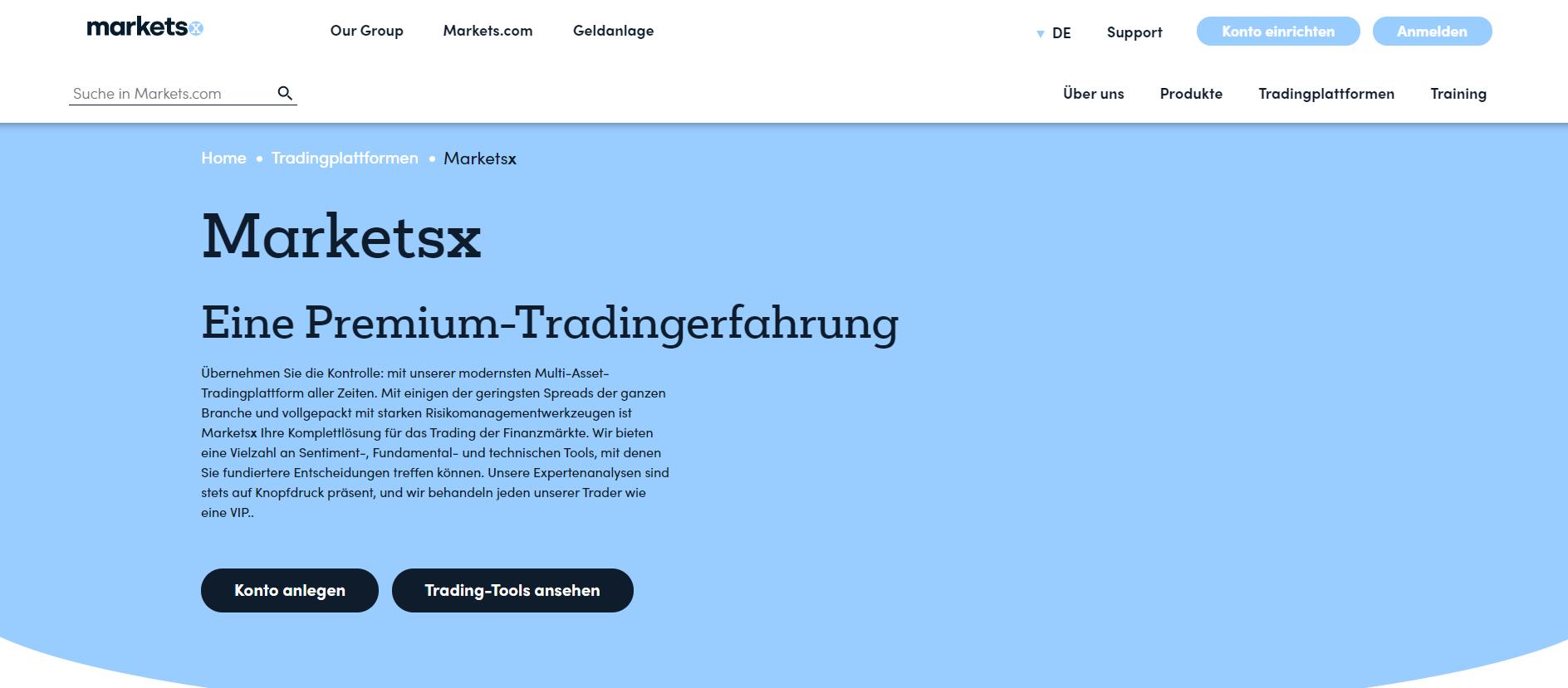 Marketsx Forex Broker Webseite