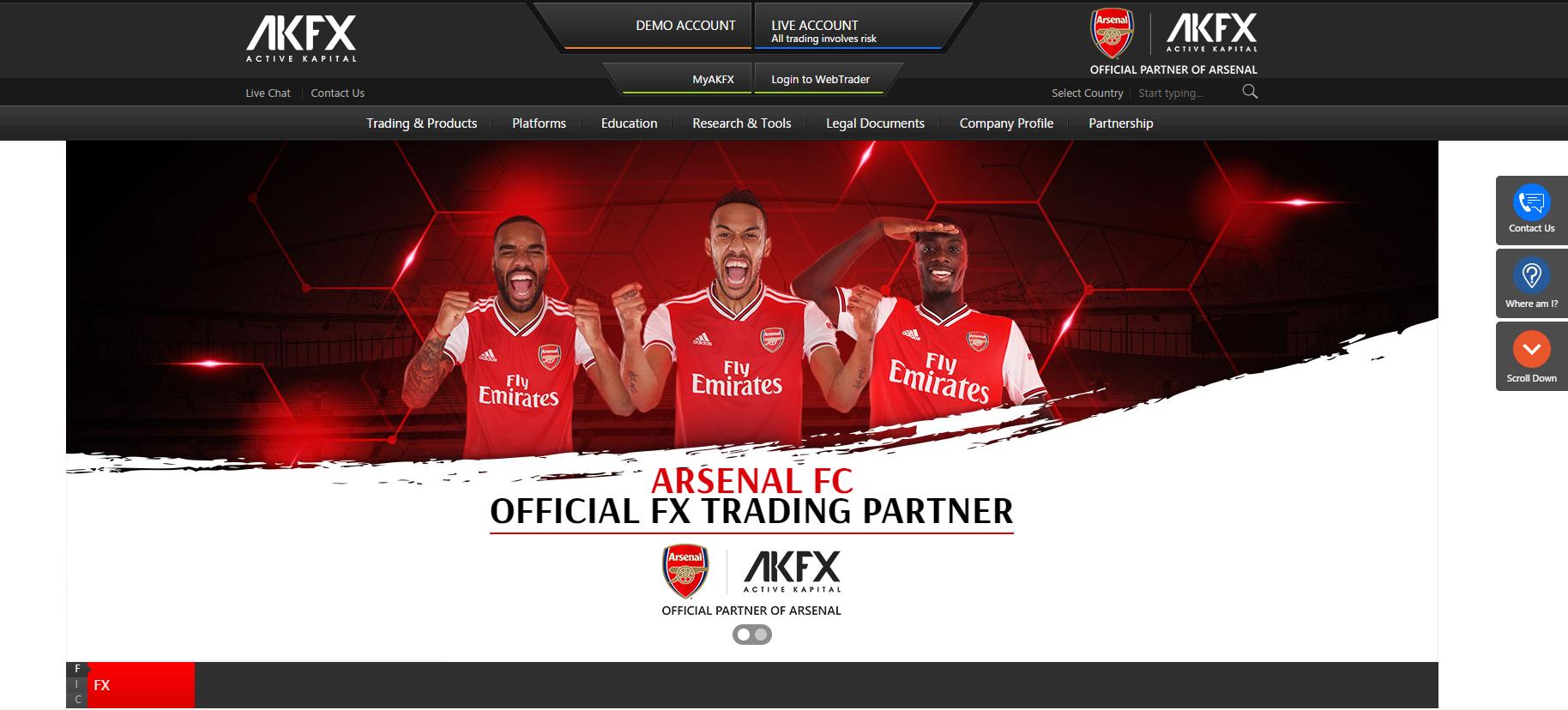 Offizielle Webseite von AKFX