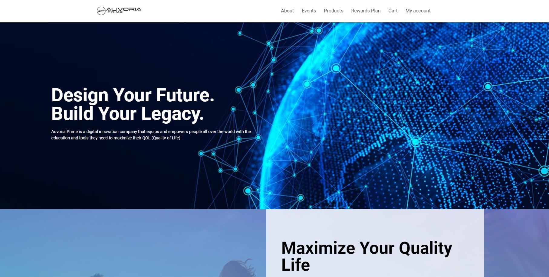 Offizielle Webseite von Auvoria Prime