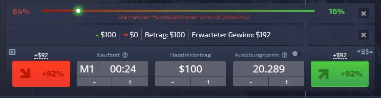 Pocket Option Handelsmaske