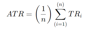 Arithmetische Formel des Average True Range