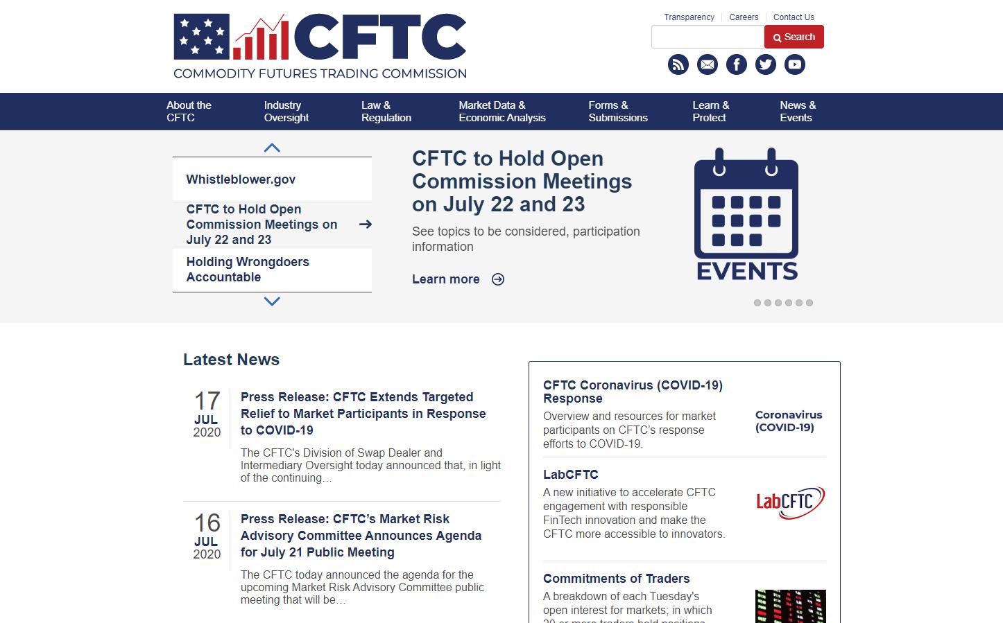 CFTC Webseite