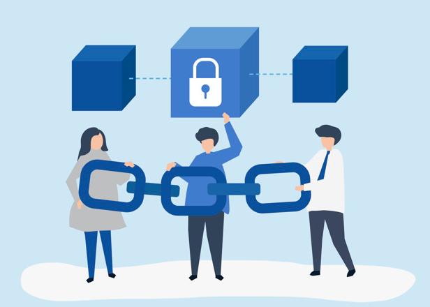 Einfache Darstellung der Blockchain