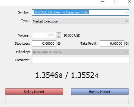 FxPro Ordermaske im MetaTrader