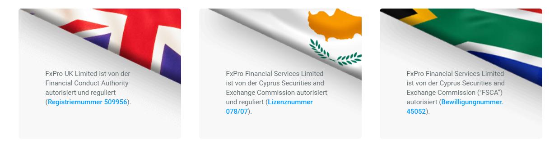 FxPro ist mehrfach reguliert