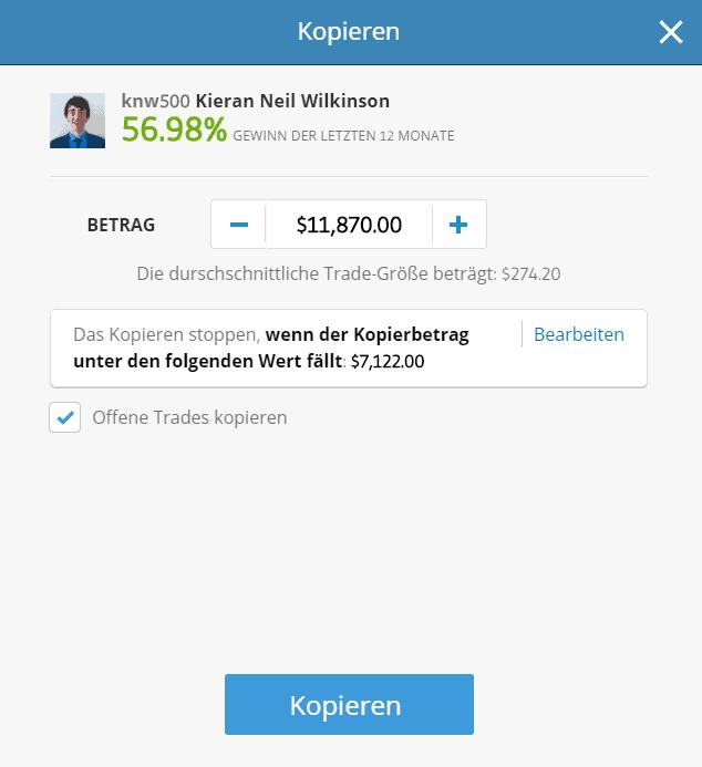 Kopieren Sie einen anderen Trader