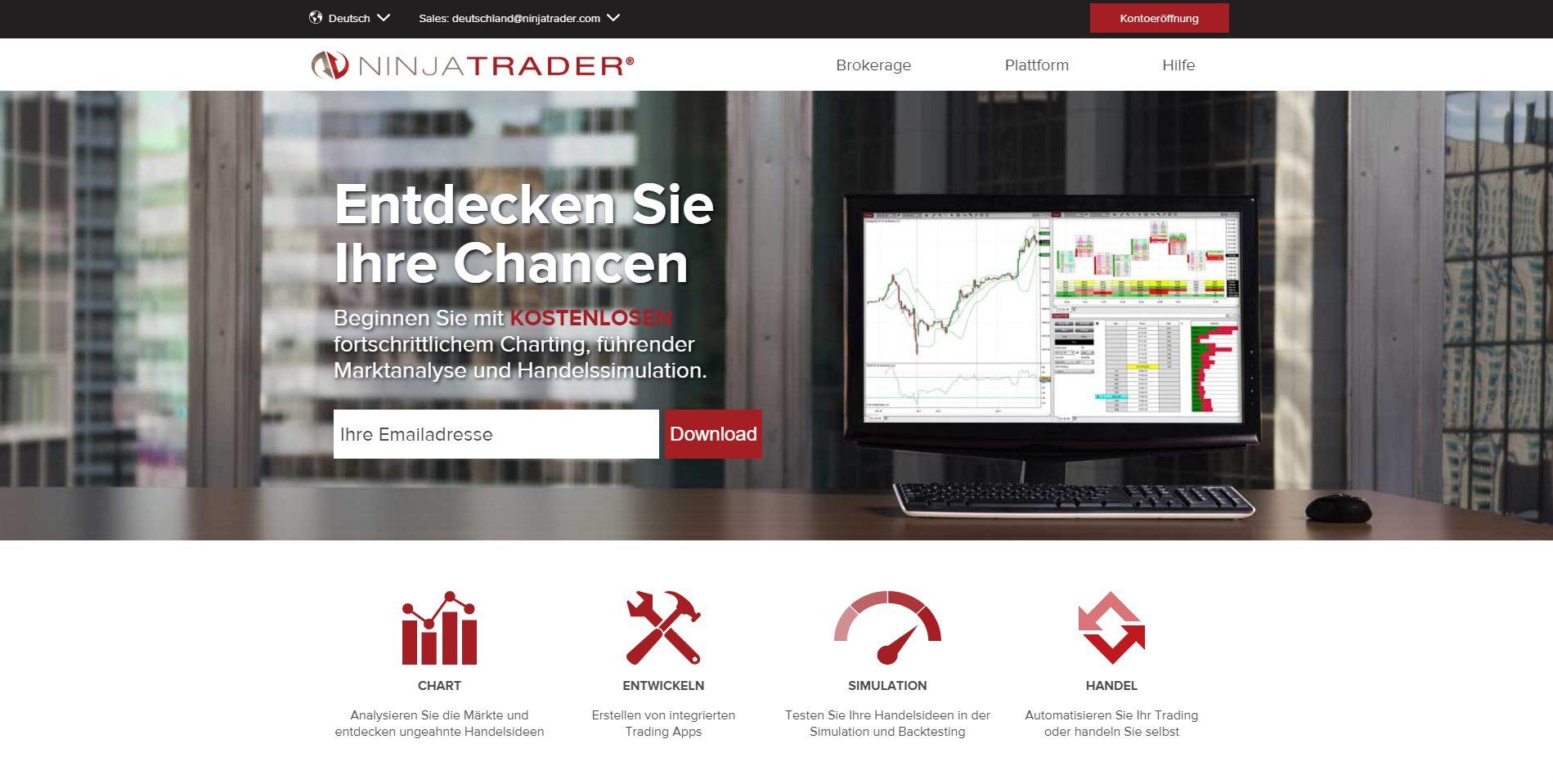 NinjaTrader Webseite