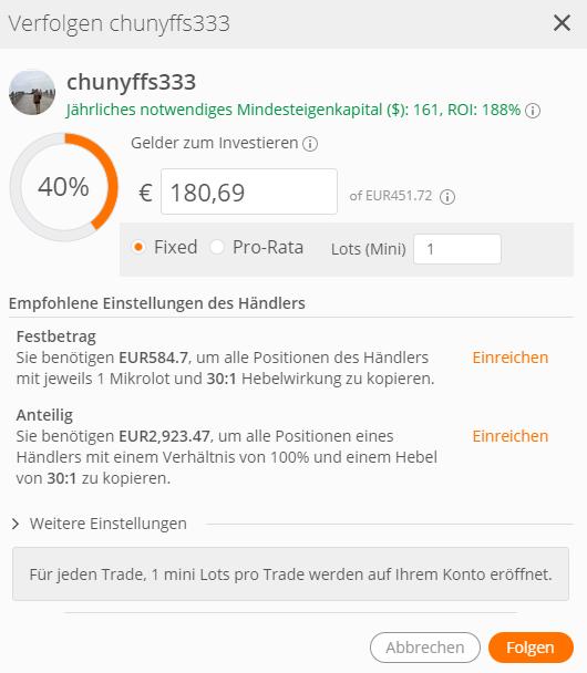 ZuluTrade anderen Tradern folgen