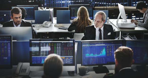 Forex Trader bei der Arbeit