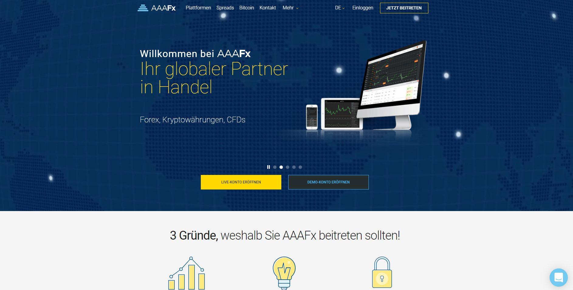AAAFX offizielle Webseite