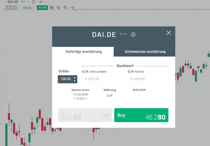 Aktien Trading mit der Daimler Aktie
