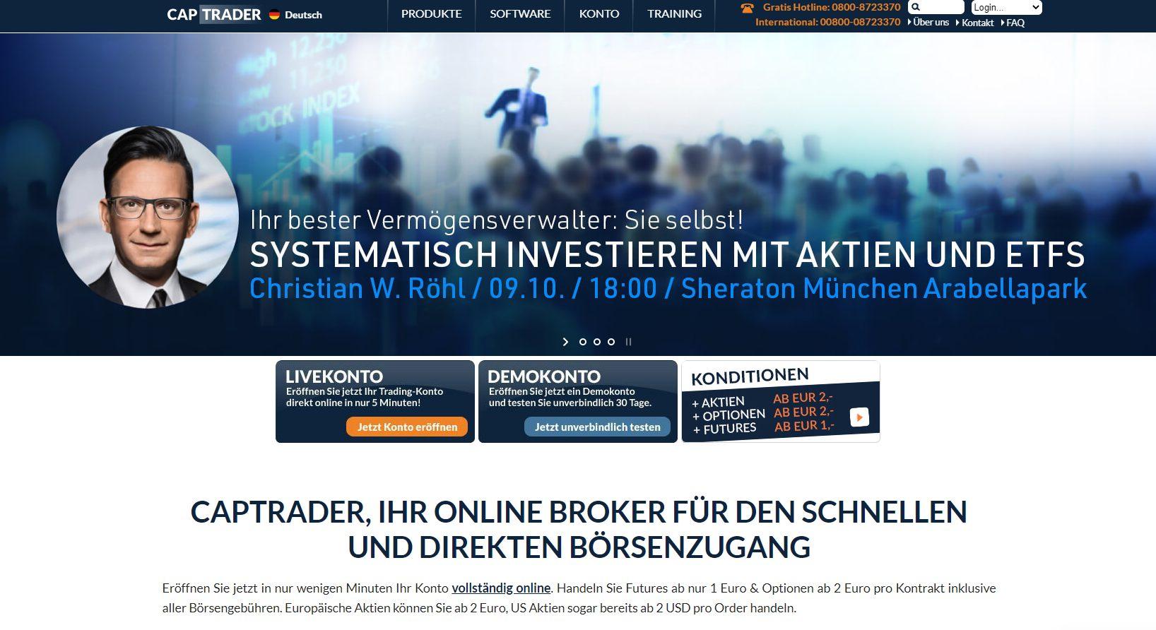 CapTrader Webseite