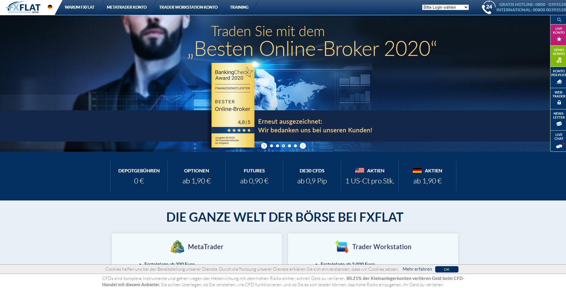 FXFlat Webseite