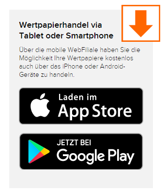 Flatex mobiler Download