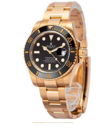 Goldene Rolex Uhr