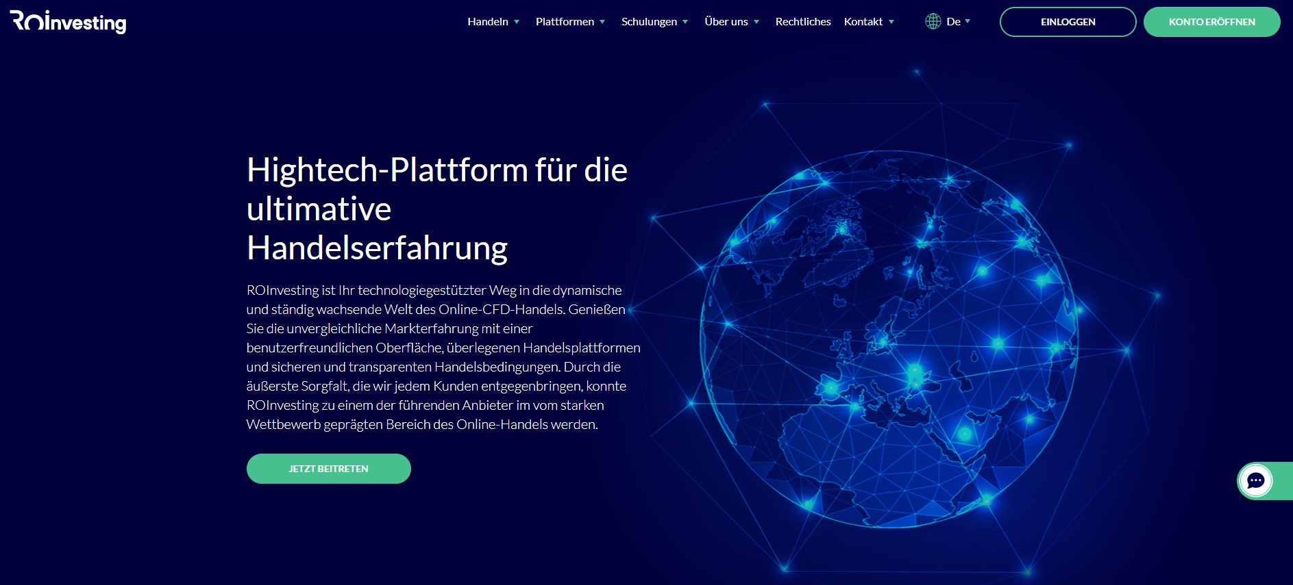 ROInvesting Webseite