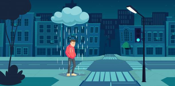 Viele Daytrader stehen im Regen