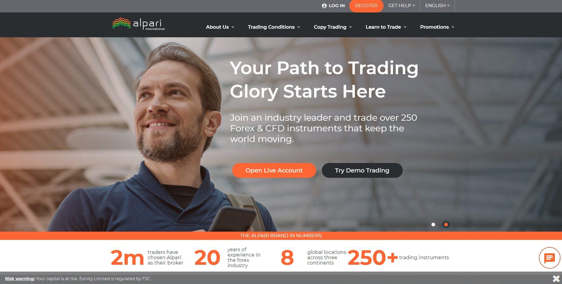 Die offizielle Webseite von Alpari International