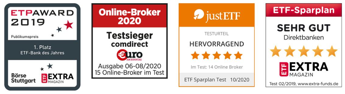 ETF Comdirect Auszeichnungen