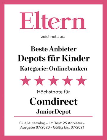JuniorDepot Comdirect Auszeichnung