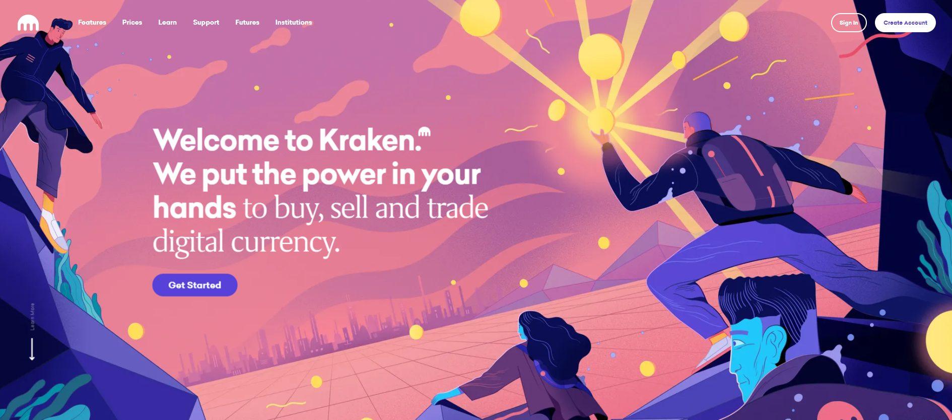 Offizielle Webseite von der Kraken Börse