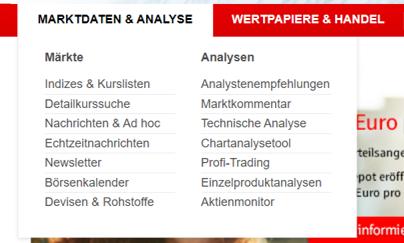 S Broker Analyse und Charting