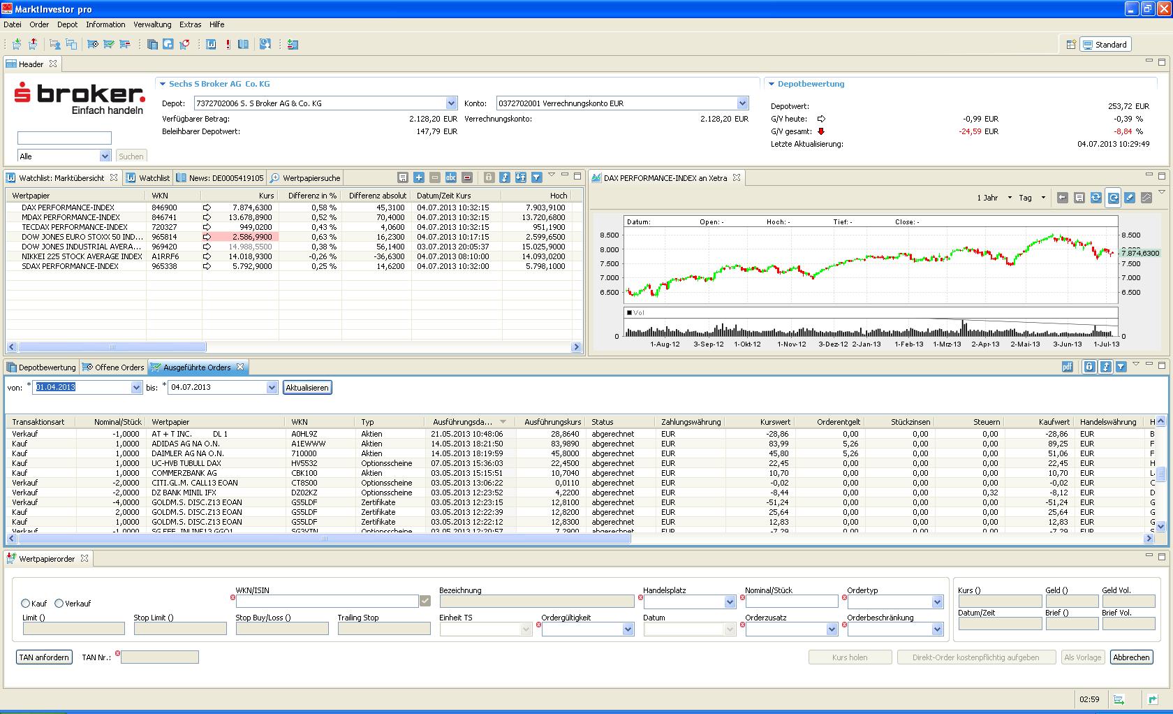 S Broker Marktinvestor Pro Software