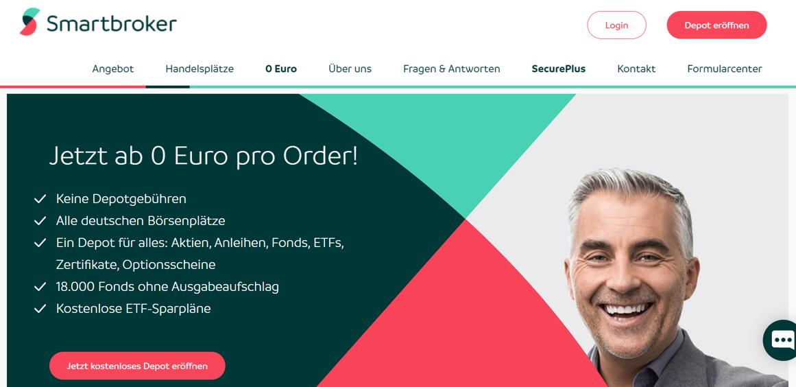 Smartbroker Website Screenshot