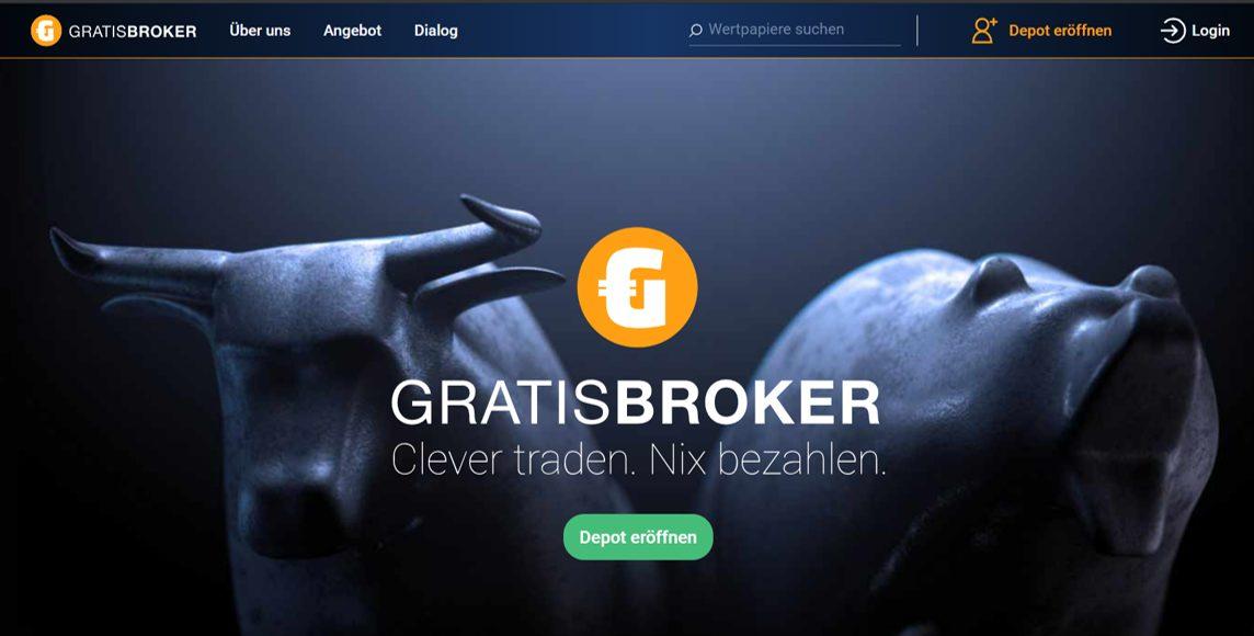 Website Gratisbroker Screenshot