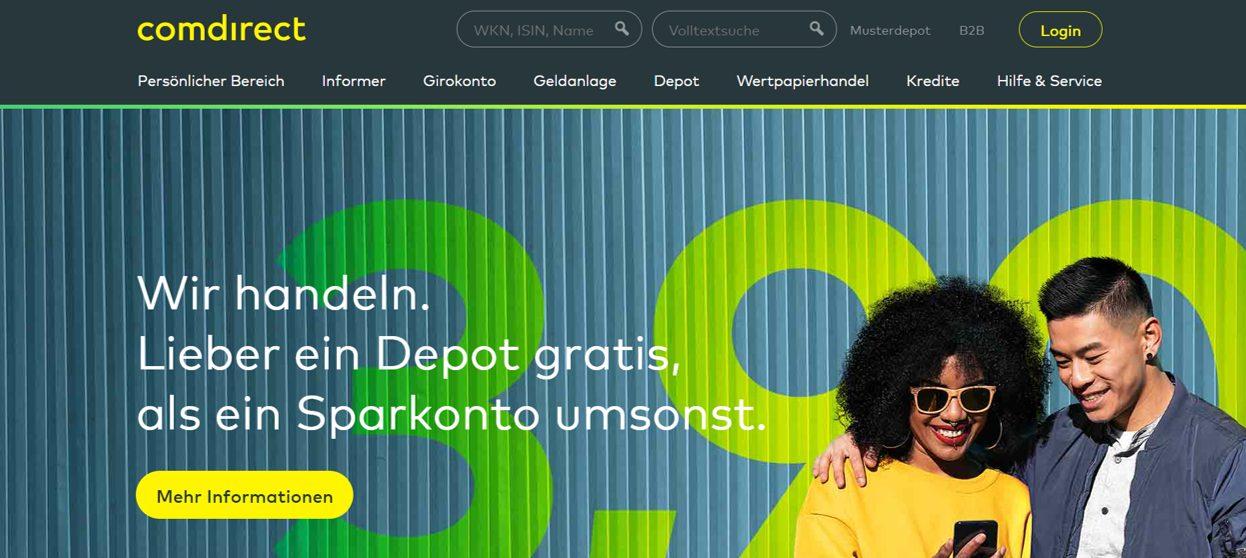 Website Screenshot Comdirect