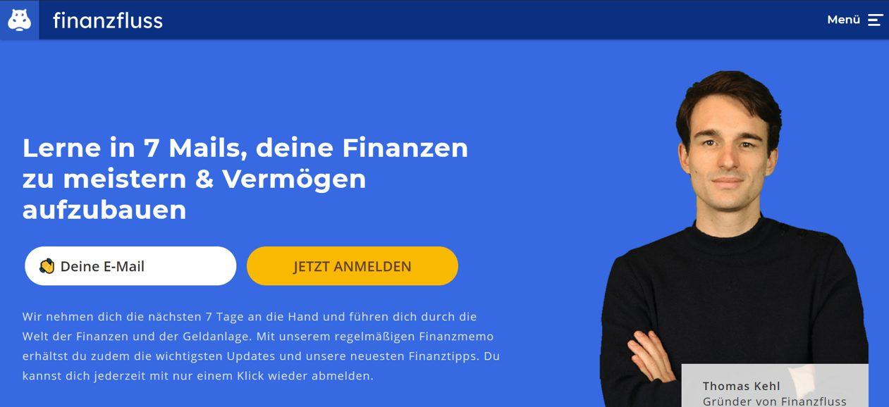 Finanzfluss Website Screenshot
