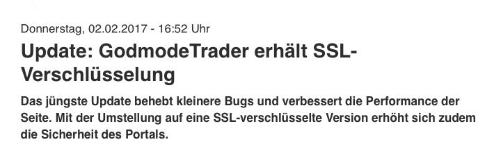 GodmodeTrader SSL-Verschlüsselung