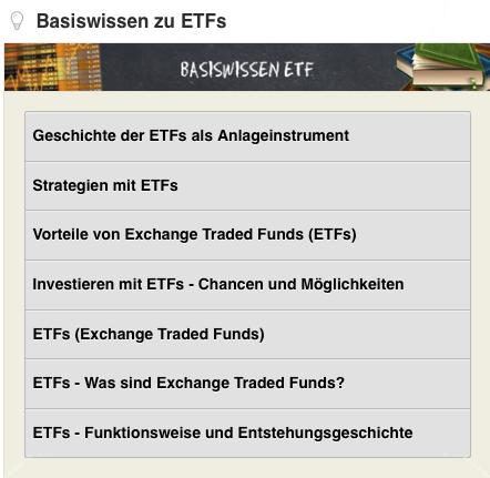 Godmodetrader ETF Basiswissen